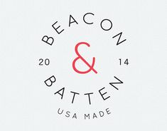 Beacon & Batten is a line of home goods by Emily Donald, featuring prints inspired by vintage textiles and wallpaper. I designed this 3-part identity for the Beacon & Batten brand, to be used in print, packaging, web and mobile.