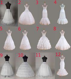 Enaguas enagua nupcial enagua de la boda Hoopless miriñaque vestido de novia | eBay