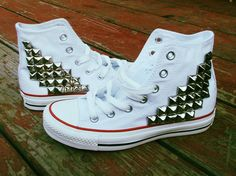 Studded Converse Shoes on Etsy, $100.00