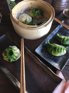 Gamze Mutfakta / chard dumplings / green - white dumplings - Çin mantısı