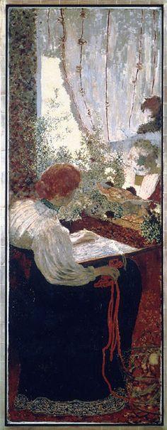 The Tapestry.1895 by Edouard Vuillard