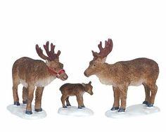 Lemax Decoration 'Reindeer', Christmas Cake Decorating Animals,Set of 3 Figures  #Lemax