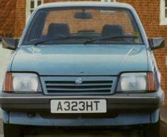 An image of the car numberplate
