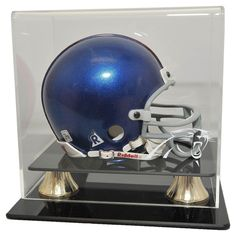 Carolina Panthers NFL Coach's Choice Mini Football Helmet Display Case