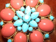Coral and turquoise :)