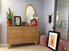 diy mid century dresser, home decor, painted furniture