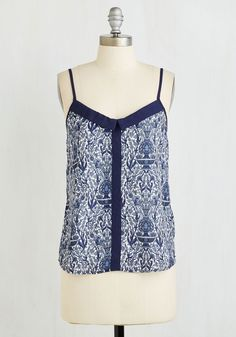 Heard It Through the Grape-vinyl Top. At the swap meet, what you gain in underground LP advice, you give in style guidance by answering an inpouring of questions about this delightfully detailed tank! #blue #modcloth