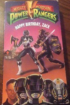 Mighty Morphin Power Rangers - Happy Birthday, Zack VHS