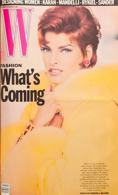The 25 Best W Magazine Supermodel Covers - Linda Evangelista on the cover of W Magazine September 1991-Wmag