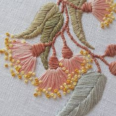 Hottest Pics Embroidery Designs free Ideas Welcome to side embelleshment! Embroidery generally is a relaxing creative outlet to help keep your Hand Embroidery Videos, Embroidery Flowers Pattern, Creative Embroidery, Hand Embroidery Stitches, Embroidery Hoop Art, Hand Embroidery Designs, Ribbon Embroidery, Flower Patterns, Cross Stitch Embroidery