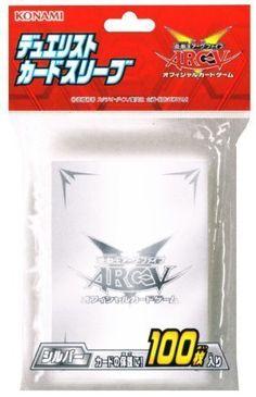 Yu-Gi-Oh! – Jeux de Cartes – Protèges Cartes Format JAP – Arc-v Officiel Konami – Sur Protection Argent Par 100