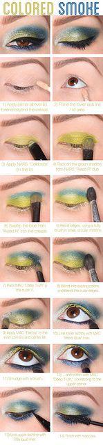 Coloured smokey eye