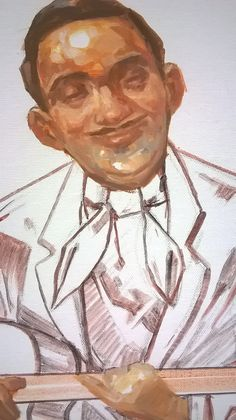 The King of Jazz Guitar: Django Reinhardt  w4kalender.tumblr.com #art #painting