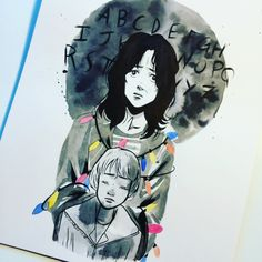 Joyce and Will Byers - Stranger Things art