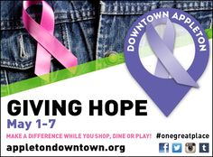 Giving Hope is May 1 - 7 in Downtown Appleton