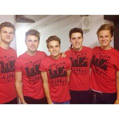 The Youtube Boyband: Jim Chapman, Marcus Butler, Joe Sugg, Alfie Deyes, and Caspar Lee