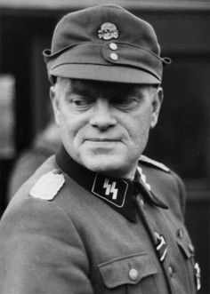 """ SS-Sturmbannführer Jonas Lie photographed in 1943 in Waffen-SS officer uniform. Lie had served with the Leibstandarte Division in 1941 and had received the Iron Cross Second Class. A tough, ambitious man (and best-selling mystery writer..."