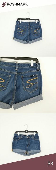 "Seven Sexy Denim Shorts WAIST - 29/30  HIPS - 38/39""  STRETCH - no HEM- cut, frayed  These are more a sz 3/4 listed as such  *I Ship Everyday except Sunday Seven7 Shorts Jean Shorts"
