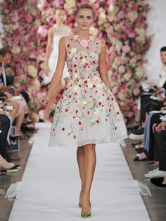 In memory of Oscar de la Renta, from his spring 2015 collection