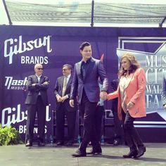 Loretta Lynn and Jack White receiving stars on Music City's Walk of Fame. Thursday June 4, 2015