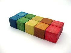 Wooden Blocks Montessori Toddler Wood Travel by ArmadilloDreams on Etsy