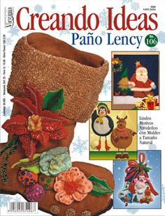 Revistas Creando Ideas gratis Christmas Books, Christmas Stockings, Book Crafts, Craft Books, Diy Projects To Try, Plastic Canvas, Straw Bag, Reusable Tote Bags, Teddy Bear