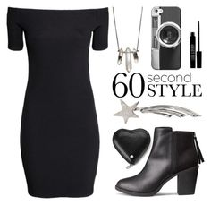 """60 Second Style: Off-Shoulder Dress"" by sharmarie ❤ liked on Polyvore featuring H&M, ZoÃ« Chicco, Casetify, Bernard Delettrez, Lord & Berry, Aspinal of London and 60secondstyle"