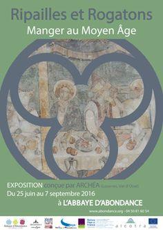 """L' Abbaye d'Abondance propose une exposition """"Ripaille et rotagons, manger au Moyen-Age"""" saison 2016 avec les Guides du Patrimoine des Pays de Savoie  http://www.gpps.fr/Guides-du-Patrimoine-des-Pays-de-Savoie/Pages/Site/Visites-en-Savoie-Mont-Blanc/Chablais/Haut-Chablais/Abbaye-d-Abondance"""