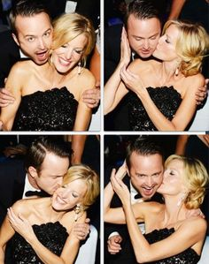 Aaron Paul and Anna Gunn at the Emmys