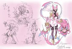 """""""Popstar Kindred by Loiza塗鴉牆(pixiv) (FB) """" I really applaud Loiza's dedication to all the popstar skins for new champions."""
