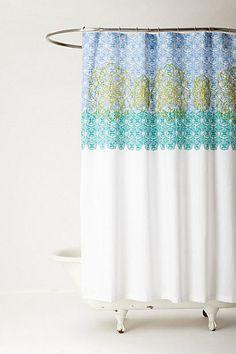 Anthropologie Sun Medallion Shower Curtain, Cotton