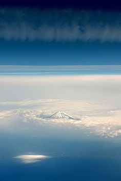 Mount Fuji, the mountain that looks like it's floating on the clouds... #japan #wanderlust #travel
