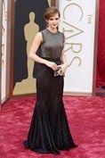 March 2 2014  Emma Watson in Vera Wang. Photo By PA