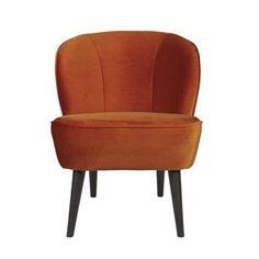 WOOOD fauteuil Sara fluweel roestbruin kopen? Verfraai je huis & tuin met Fauteuils van KARWEI