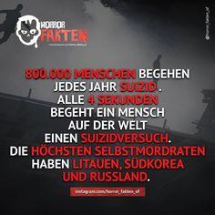 Deutschland ist auf Platz. 35 Österreich auf Platz. 22 und Schweiz auf Platz. 43 der Selbstmordrate  Aus welchen Land kommt ihr?  #horror #horrorfakten #fakten