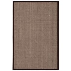 kathy ireland Seascape Husk Area Rug (10' x 14') by Nourison (10' x 14'), Brown, Size 10' x 14' (Sisal, Solid)