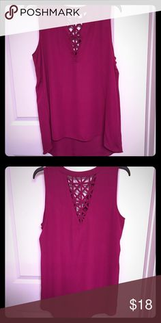 Dark pink sleeveless shirt with patterned back Dark pink sleeveless shirt with patterned back Tops Tank Tops