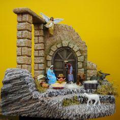 Christmas Grotto Ideas, Christmas Decorations, Christmas Tree, Nativity Stable, Religious Education, Activity Days, Miniatures, Clip Art, Handmade