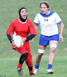 Iran. Women who want to play a sport they love, but wont compromise their beliefs...pretty awesome.