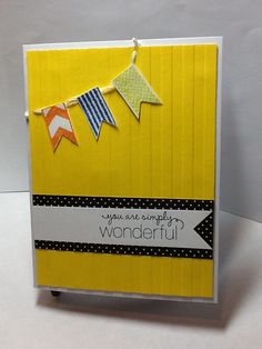 Stampin Up embossing folder, sentiment,Recollections clear stamps for banners