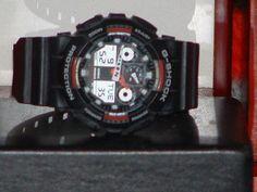 Pre-Owned Casio Red & Black GA-100 G Shock Sport Digital Watch #Casio #Sport