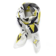 Geometry in creme, yellow, grey and black.