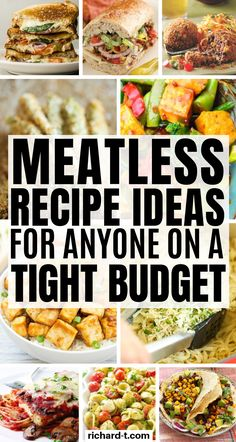 25 Meatless meal recipes for anyone wanting to save some money! These vegetarian recipes are simply amazing! 25 Meatless meal recipes for when money is really tight and you don't want to overspend on food! These meatless recipes are amazing! Veggie Recipes, Lunch Recipes, Meal Recipes, Dinner Recipes, Healthy Recipes, Meatless Recipes, Cheap Vegetarian Recipes, Easy Quick Vegetarian Meals, Cheap Veggie Meals