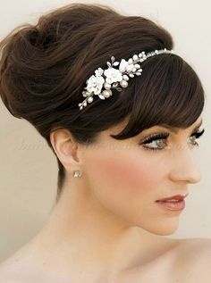 flower headband for brides
