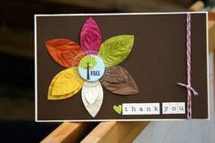 brilliant card with our paper leaves