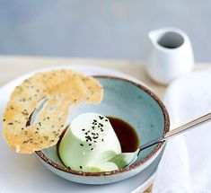 Try Canberra restaurant XO's innovative recipe for a silky pandan-flavoured panna cotta topped with a crunchy sesame tuile.