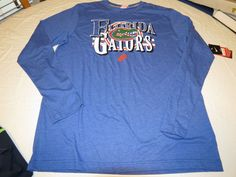 Florida Gators t shirt Nike college long sleeve T shirt Men's XL slim fit royal #Nike #FloridaGators