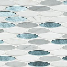 Artistic Tile   Maui Oval Water Jet Mosaic   Water Jet Collection