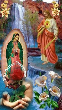 Hasta el cielo Jesus Mother, Blessed Mother Mary, Blessed Virgin Mary, Pictures Of Jesus Christ, Religious Pictures, Prayer For Friendship, Virgin Mary Painting, Jesus Artwork, Big Wedding Cakes