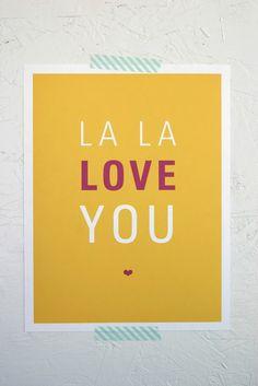 i la la love you too!